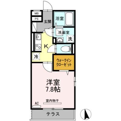 徳山不動産の物件「アプリコット櫛ケ浜  101号室」の間取り図