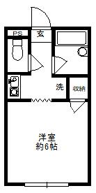徳山不動産の物件「敷金ゼロ!礼金ゼロ!仲介料ゼロ!        ルナステージ 101号室                1階角部屋」の間取り図