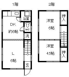 徳山不動産の物件「上遠石町一戸建 人気の周陽中校区の一戸建です        」の間取り図
