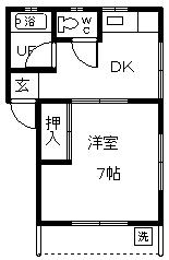 徳山不動産の物件「せとみコーポ2 106号室 1階角部屋です! 」の間取り図