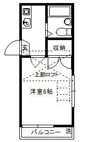 徳山不動産の物件「敷金ゼロ!礼金ゼロ!仲介料ゼロ!              メゾンローラ 201号室 ※2階角部屋 」の間取り図