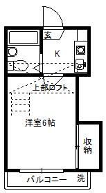 徳山不動産の物件「敷金ゼロ!礼金ゼロ!仲介料ゼロ!メゾンローラ203号室 」の間取り図