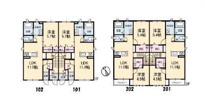 徳山不動産の物件「ポートタウン C棟  101号室  」の間取り図